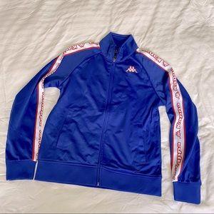 Kappa zip up jacket in royal blue